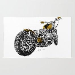 """""""Rootbeer Bobber"""" Custom Motorcycle Rug"""