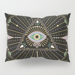 Evil Eye Mandala – Black Pillow Sham