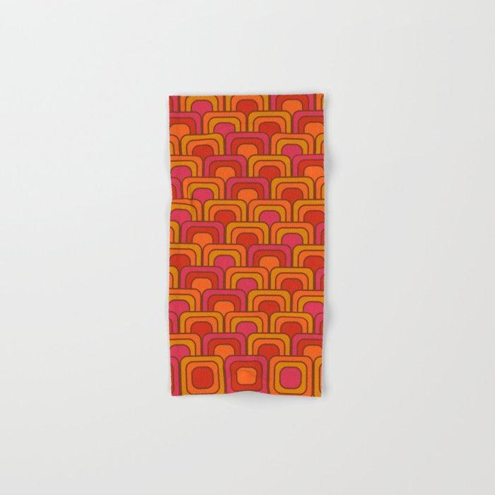 Geometric Retro Pattern Hand & Bath Towel