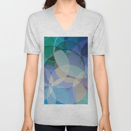 Abstract Composition 627 Unisex V-Neck
