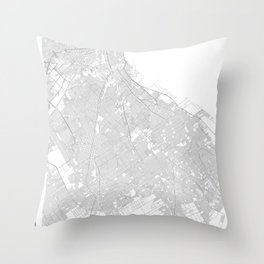 Buenos Aires, Argentina Minimalist Map Throw Pillow