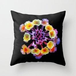 Camara flower - natural mandala Throw Pillow