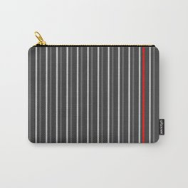 Grey Red stripes pattern Carry-All Pouch