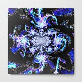 Blue suculent Metal Print