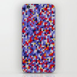 Knitted multicolor pattern 2 iPhone Skin