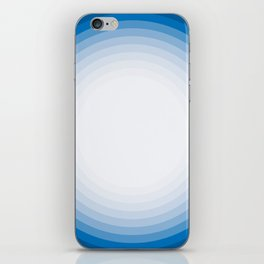 Blue circle pattern iPhone Skin