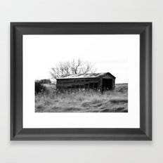 Old Barn House Framed Art Print