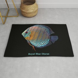 Royal Blue Discus Rug