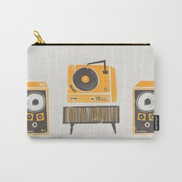 Vinyl Deck And Speakers Carry-All Pouch