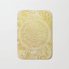 Medallion Pattern in Mustard and Cream Bath Mat