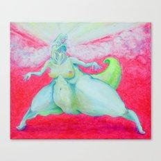 godzilla - lady dinosaur Canvas Print