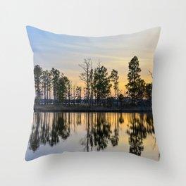 Reflective Sunset Throw Pillow