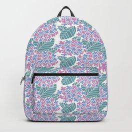 Japanese Ajisai Flower Seamless Patterns Symbols Backpack