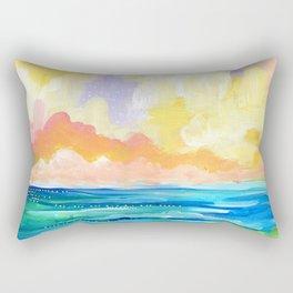 Abstract Seascape I Rectangular Pillow