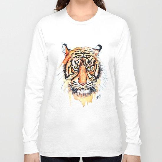Tiger (Watercolor) Long Sleeve T-shirt