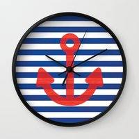 sailor Wall Clocks featuring Sailor.. by PearGraphics