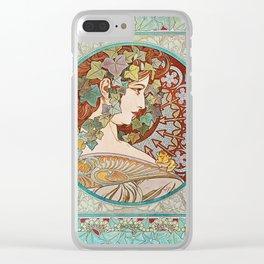 Alphonse Mucha  -  Ivy Clear iPhone Case