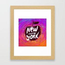 New (fuckin') York Framed Art Print