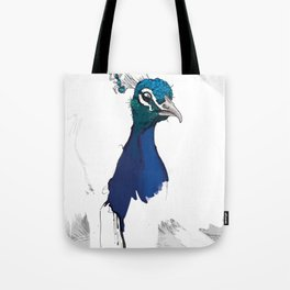 Peacock Head Tote Bag