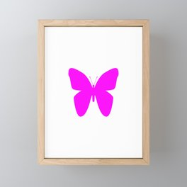 Pink Butterfly For Pink People Framed Mini Art Print