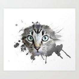 Cat Eyes Watercolor Art Print