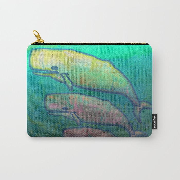 Whales Swimming Together Carry-All Pouch