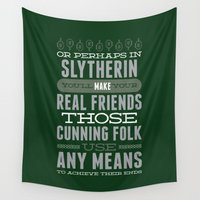 slytherin Wall Tapestries featuring Slytherin by Dorothy Leigh