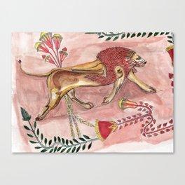 Antique Lion Canvas Print