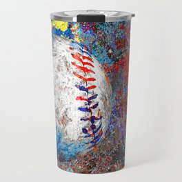 Baseball art print work 10 Travel Mug