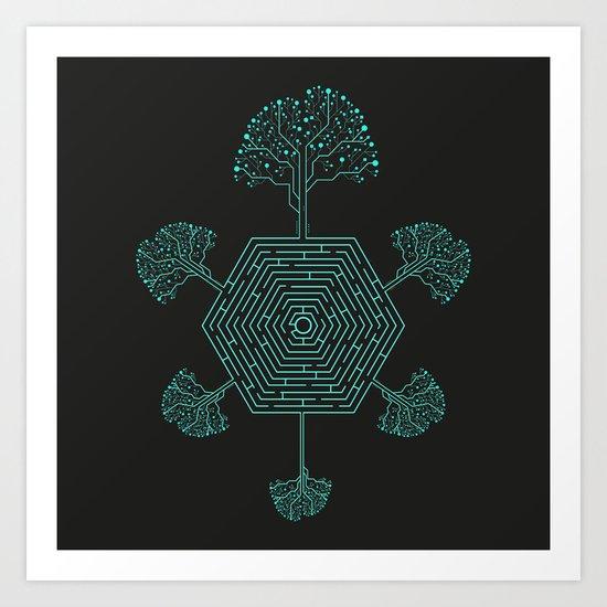 Natural Maze Art Print