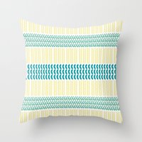 knit Throw Pillows featuring Knit Pattern by K&C Design