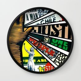 African American Center for Civil and Human Rights Mural Wall Clock