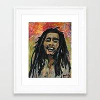 rasta Framed Art Prints featuring Rasta  Man by gretzky