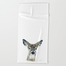 Doe Eyes by Teresa Thompson Beach Towel