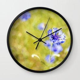 Bachelor Buttons Light Wall Clock