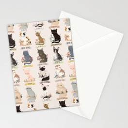 Cats Breed Stationery Cards