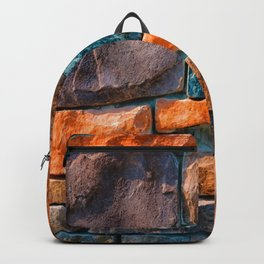 Colored Stone Wall Backpack