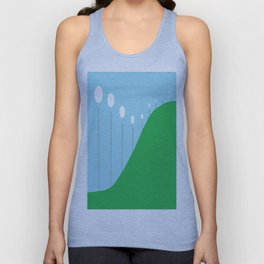 Abstract Landscape - Lights on the Hill Unisex Tank Top