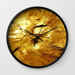 A Touch of Gold Wall Clock