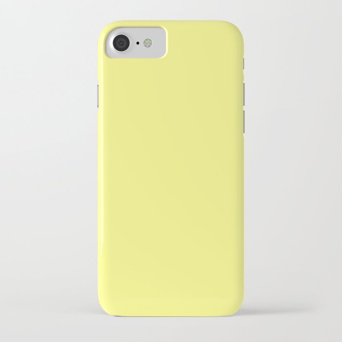 Yellow Solid Color Block iPhone Case