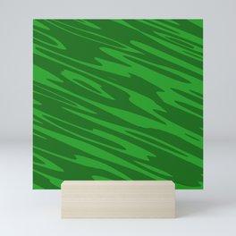 Modern Abstract Paint Splatter - Green - Matching Set 2 of 2 Mini Art Print