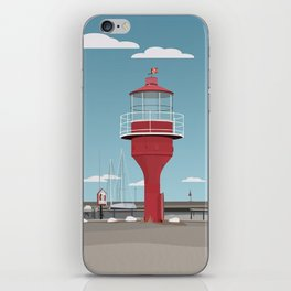The lighthouse in the harbour in Skanor - light iPhone Skin