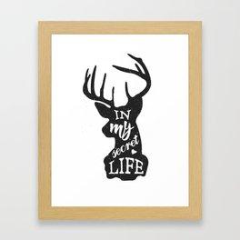 In my secret life Framed Art Print