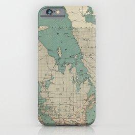 Vintage Map of Lake Winnipeg Canada (1915) iPhone Case