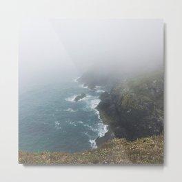 Misty Cliffs Metal Print