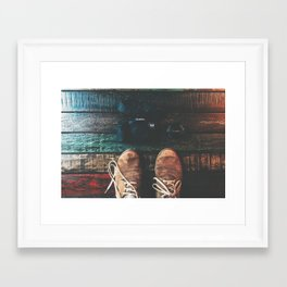 SHOES - CANON - CAMERA - PHOTOGRAPHY Framed Art Print