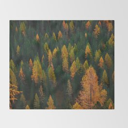 The Evergreens (Color) Throw Blanket