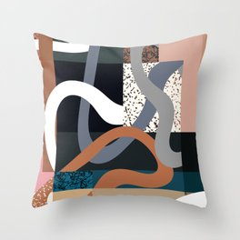 Curves and Layers Throw Pillow