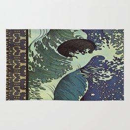 Vintage poster - Japanese Wave Rug