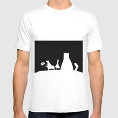 Meow Cat MEDIUM Mens Fitted Tee White
